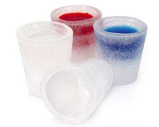 Shotglas av Is (Bricka med 12 st)