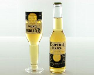 Ölflaskeglas
