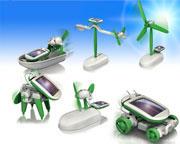 Soldrivna Robotar (6-in-1 Byggsats)